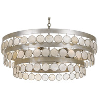 Crystorama 6008-SA Coco 6 Light 28 inch Antique Silver Chandelier Ceiling Light