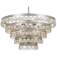 Crystorama 6009-SA Coco 9 Light 32 inch Antique Silver Chandelier Ceiling Light