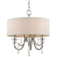 Crystorama 6033-PN-CL-MWP Cody 3 Light 14 inch Polished Nickel Mini Chandelier Ceiling Light