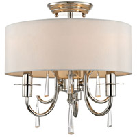 Cody 3 Light 14 inch Polished Nickel Semi Flush Mount Ceiling Light