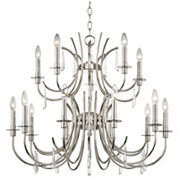 Crystorama 6039-PN-CL-MWP Cody 15 Light 32 inch Polished Nickel Chandelier Ceiling Light