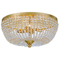 Rylee 4 Light 18 inch Antique Gold Flush Mount Ceiling Light