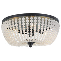 Rylee 4 Light 18 inch Matte Black Flush Mount Ceiling Light