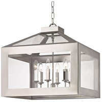 Crystorama 6056-PN Hurley 6 Light 20 inch Polished Nickel Chandelier Ceiling Light