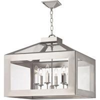 Crystorama 6056-PN Hurley 6 Light 20 inch Polished Nickel Chandelier Ceiling Light