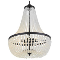 Rylee 6 Light 18 inch Matte Black Chandelier Ceiling Light