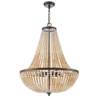 Crystorama 609-FB Rylee 8 Light 25 inch Forged Bronze Chandelier Ceiling Light