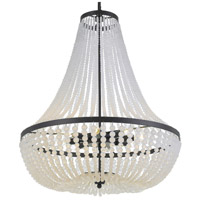 Crystorama 609-MK Rylee 8 Light 24 inch Matte Black Chandelier Ceiling Light