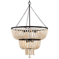 Crystorama 610-FB Rylee 8 Light 25 inch Forged Bronze Chandelier Ceiling Light