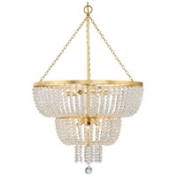Crystorama 610-GA Rylee 8 Light 25 inch Antique Gold Chandelier Ceiling Light