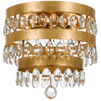 Crystorama Perla 4 Light Flush Mount in Antique Gold 6100-GA