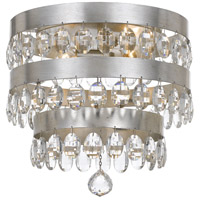 Crystorama 6100-SA Perla 4 Light 14 inch Antique Silver Flush Mount Ceiling Light in Antique Silver (SA), Clear Elliptical Faceted