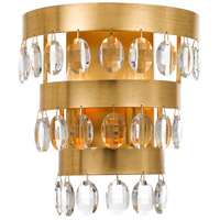 Perla 2 Light 10 inch Antique Gold Wall Sconce Wall Light