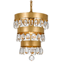 Crystorama 6103-GA Perla 1 Light 10 inch Antique Gold Mini Chandelier Ceiling Light in Antique Gold (GA)