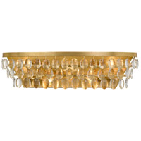 Crystorama 6105-GA Perla 5 Light 24 inch Antique Gold Vanity Light Wall Light