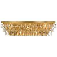 Crystorama 6105-GA Perla 5 Light 24 inch Antique Gold Vanity Light Wall Light