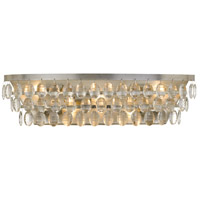 Crystorama 6105-SA Perla 5 Light 24 inch Antique Silver Vanity Light Wall Light
