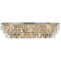 Crystorama 6105-SA Perla 5 Light 24 inch Antique Silver Vanity Light Wall Light
