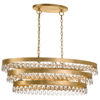 Crystorama 6107-GA Perla 6 Light 36 inch Antique Gold Chandelier Ceiling Light