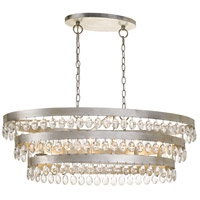 Crystorama 6107-SA Perla 6 Light 36 inch Antique Silver Chandelier Ceiling Light