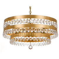 Crystorama 6108-GA Perla 6 Light 26 inch Antique Gold Chandelier Ceiling Light in Antique Gold (GA), Clear Hand Cut