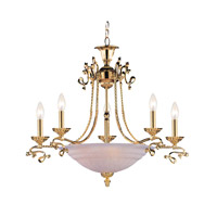 Crystorama Lighting Charleston 5 Light Chandelier in Gold 6108-GD