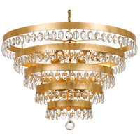 Crystorama 6109-GA Perla 9 Light 32 inch Antique Gold Chandelier Ceiling Light in Antique Gold (GA)