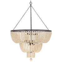 Crystorama 612-FB Rylee 12 Light 32 inch Forged Bronze Chandelier Ceiling Light