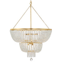 Crystorama 612-GA Rylee 12 Light 32 inch Antique Gold Chandelier Ceiling Light