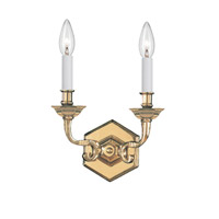 Crystorama Arlington 2 Light Wall Sconce in Polished Brass 612-PB