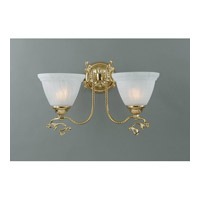 Crystorama Lighting Charleston 2 Light Wall Sconce in Gold 6202-GD