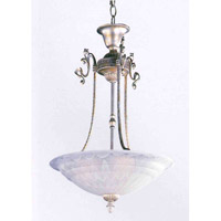 Crystorama Signature 3 Light Pendant in Antique Silver 6204-AS