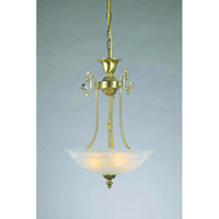 Crystorama Charleston 3 Light Pendant in Gold 6204-GD