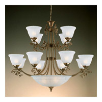 Crystorama Charleston 12 Light Chandelier in Antique Brass 6209-AB