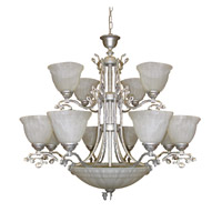 Crystorama Charleston 12 Light Chandelier in Antique Silver 6209-AS