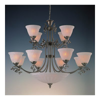 Crystorama Charleston 12 Light Chandelier in Pewter 6209-PW