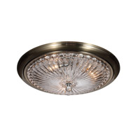 Celina 3 Light 20 inch Antique Brass Flush Mount Ceiling Light