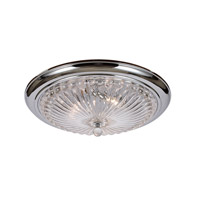 Celina 3 Light 20 inch Polished Chrome Flush Mount Ceiling Light