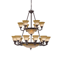 Crystorama Oxford 24 Light Chandelier in Venetian Bronze 6300-42-A-VB