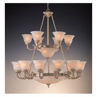 Crystorama Oxford 18 Light Chandelier in Antique Silver 6300-42-AS