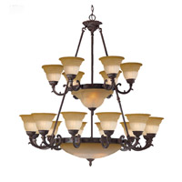 Crystorama Oxford 24 Light Chandelier in Venetian Bronze 6300-48-A-VB