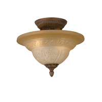 Crystorama Oxford 2 Light Semi-Flush Mount in Venetian Bronze 6303-A-VB