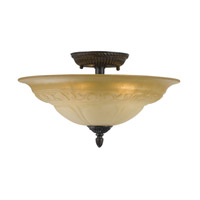 Crystorama Lighting Oxford 5 Light Semi-Flush Mount in Venetian Bronze 6313-A-VB