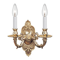 Crystorama Signature 2 Light Wall Sconce in Polished Brass 642-PB