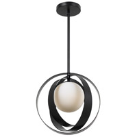 Arlo 1 Light 12 inch Matte Black Mini Chandelier Ceiling Light