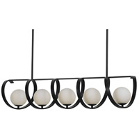 Crystorama 6465-MK Arlo 5 Light 46 inch Matte Black Chandelier Ceiling Light