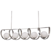 Crystorama 6465-SA Arlo 5 Light 46 inch Antique Silver Chandelier Ceiling Light in Antique Silver (SA)