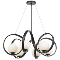 Crystorama 6466-MK Arlo 6 Light 32 inch Matte Black Chandelier Ceiling Light