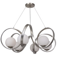 Crystorama 6466-SA Arlo 6 Light 32 inch Antique Silver Chandelier Ceiling Light in Antique Silver (SA)