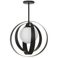 Crystorama 6467-MK Arlo 1 Light 16 inch Matte Black Chandelier Ceiling Light